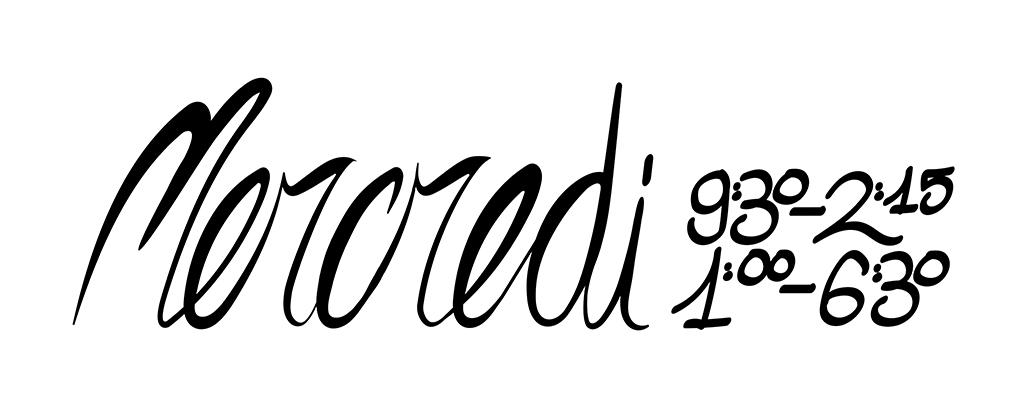 Diseño de lettering y caligrafía de Laranoia en francés