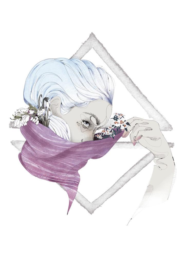 Bloom es una serie de ilustraciones en torno a la mujer, las emociones y la naturaleza realizada por Laranoia, diseñadora gráfica e ilustradora afincada en Zaragoza