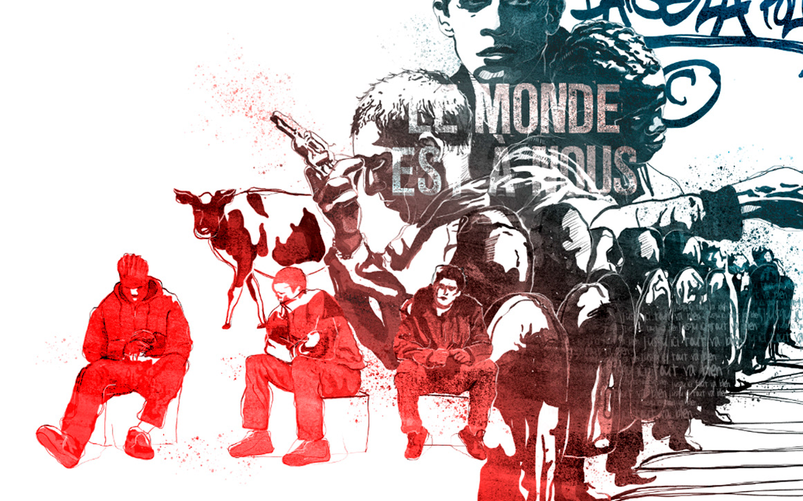 Illustration based on the french cult movie La Haine by Laranoia