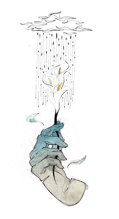Ilustraciones de manos por Laranoia